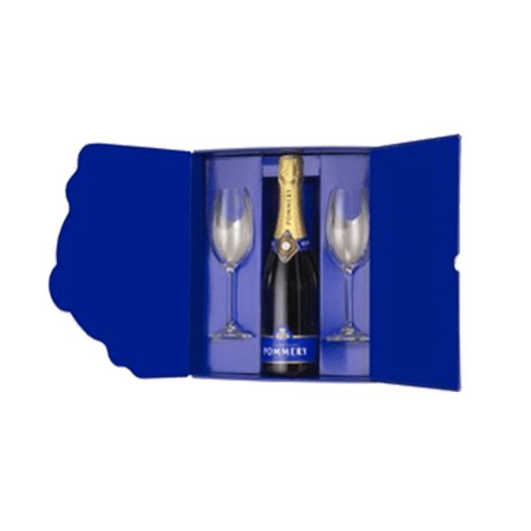 Pommery – brut royal de 750 ml con 2 copas